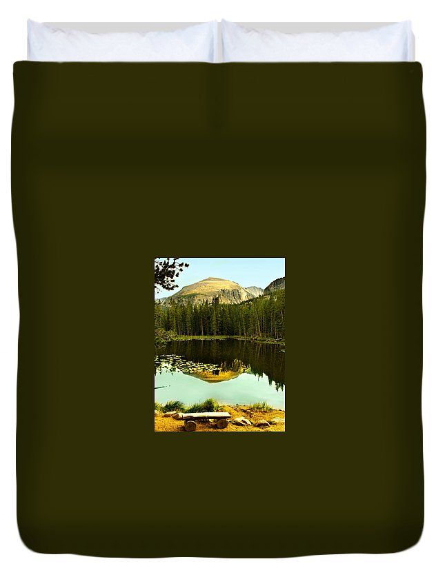Reflection Duvet Cover featuring the photograph Reflection by Marilyn Hunt