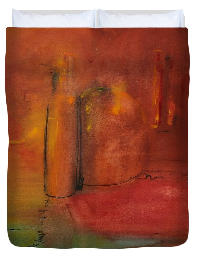 Still Duvet Cover featuring the painting Reflection Of Still Life by Jack Diamond