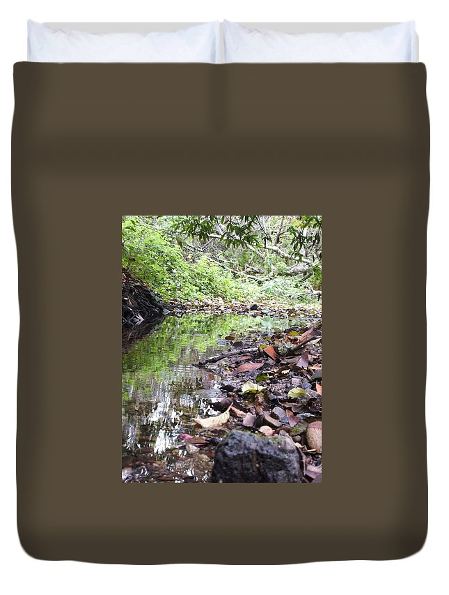 Woods Duvet Cover featuring the photograph Reflection by Shari Chavira
