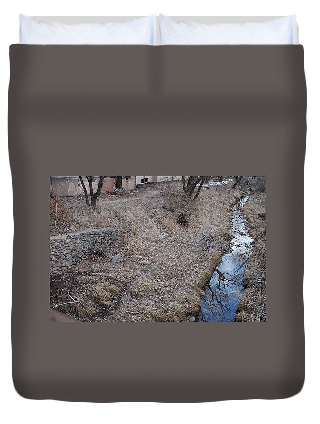 Water Duvet Cover featuring the photograph Reflections In The River by Rob Hans