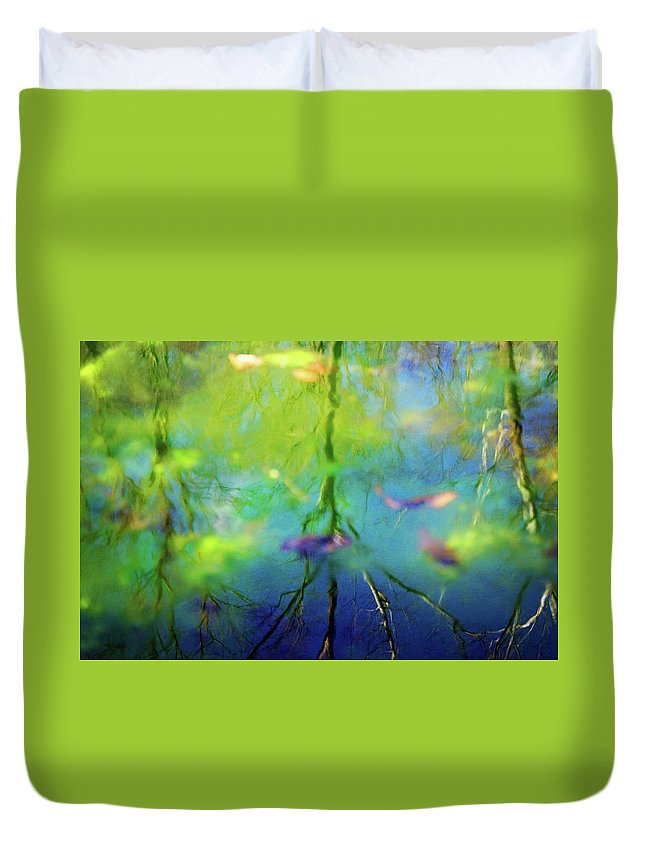 Reflection Duvet Cover featuring the photograph Reflections by Megan Swormstedt