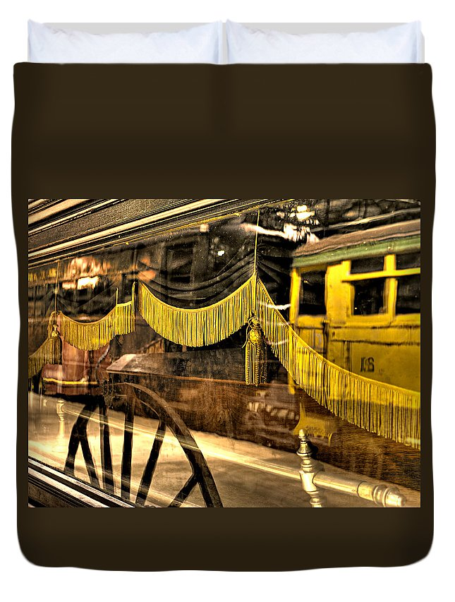 Train Duvet Cover featuring the photograph Reflections Of Death by Scott Wyatt