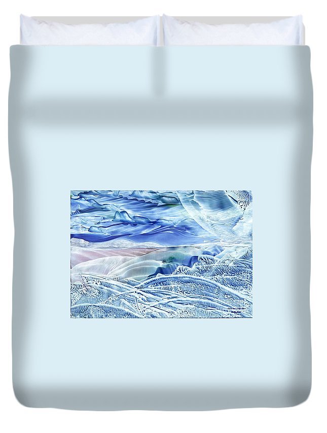 Wax Duvet Cover featuring the painting Reflections Of The Moon by Shelley Jones