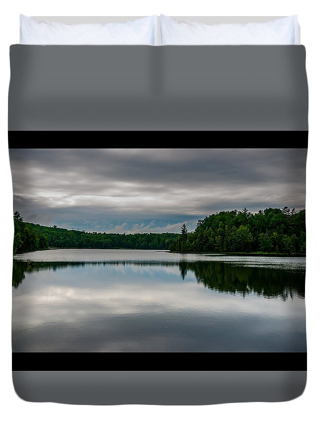 Beach Duvet Cover featuring the photograph Reflections Of Time by Robert Michaud
