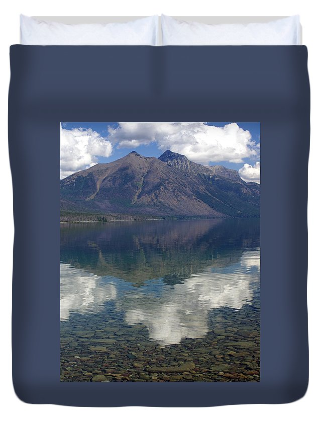 Lake Duvet Cover featuring the photograph Reflections On The Lake by Marty Koch