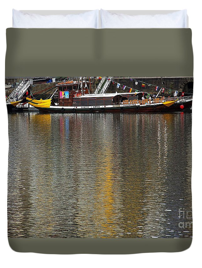 Reflection Duvet Cover featuring the photograph Reflections On Water by Vladi Alon