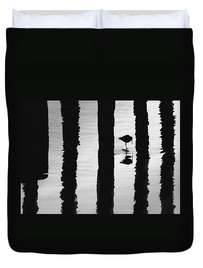 Bird Duvet Cover featuring the photograph Reflections by Sharon Foster