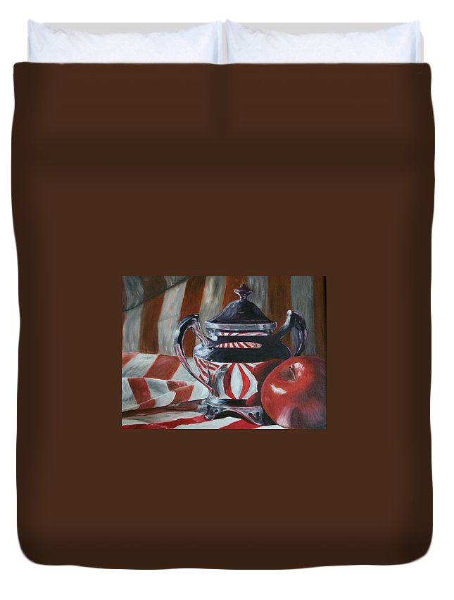 Still Life Duvet Cover featuring the painting Reflections by Stephen King