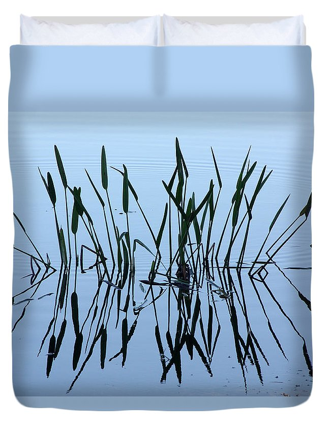 Pond Duvet Cover featuring the photograph Reflections by Tamivision