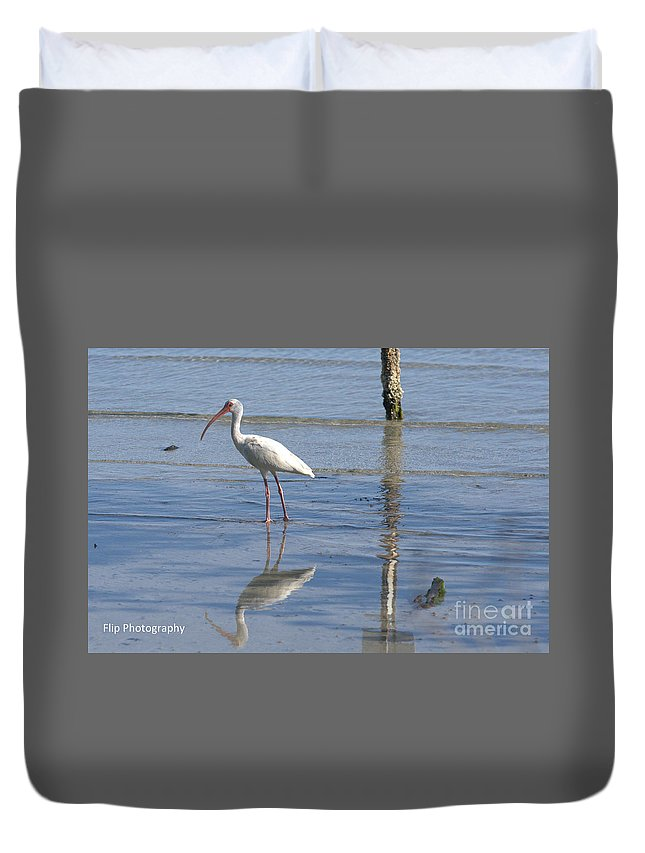 Vero Beach Duvet Cover featuring the photograph Reflections by Teri Seibert