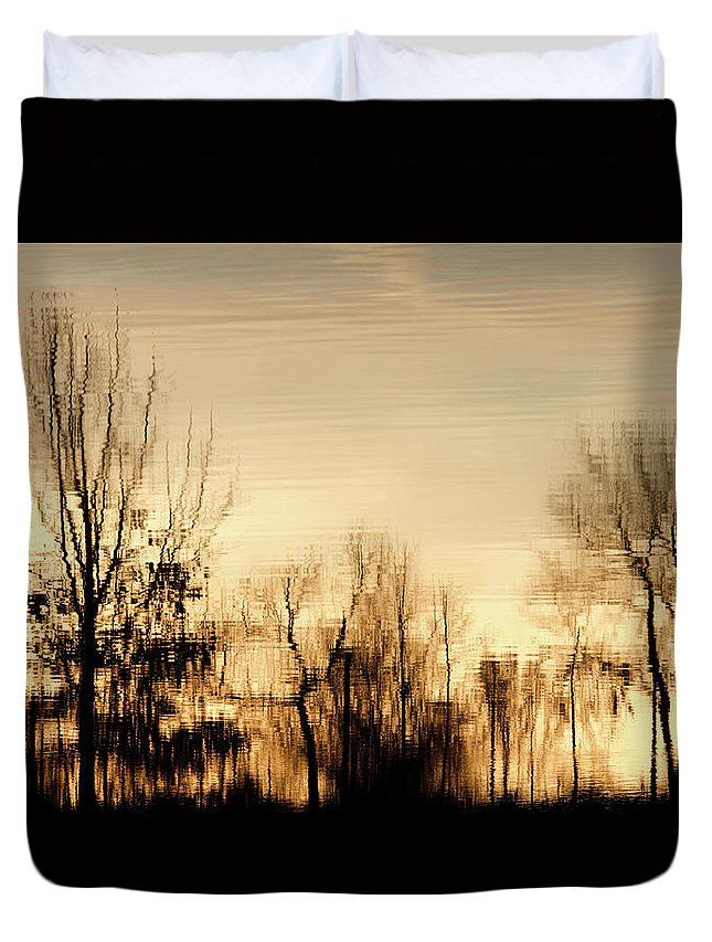 Reflection Duvet Cover featuring the photograph Reflective Moments by MotionOne Studios