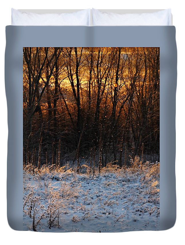 Weather Duvet Cover featuring the photograph Refracting Snow  by Marcelo Albuquerque