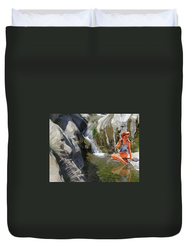 Deserts Duvet Cover featuring the digital art Refreshments by Snake Jagger