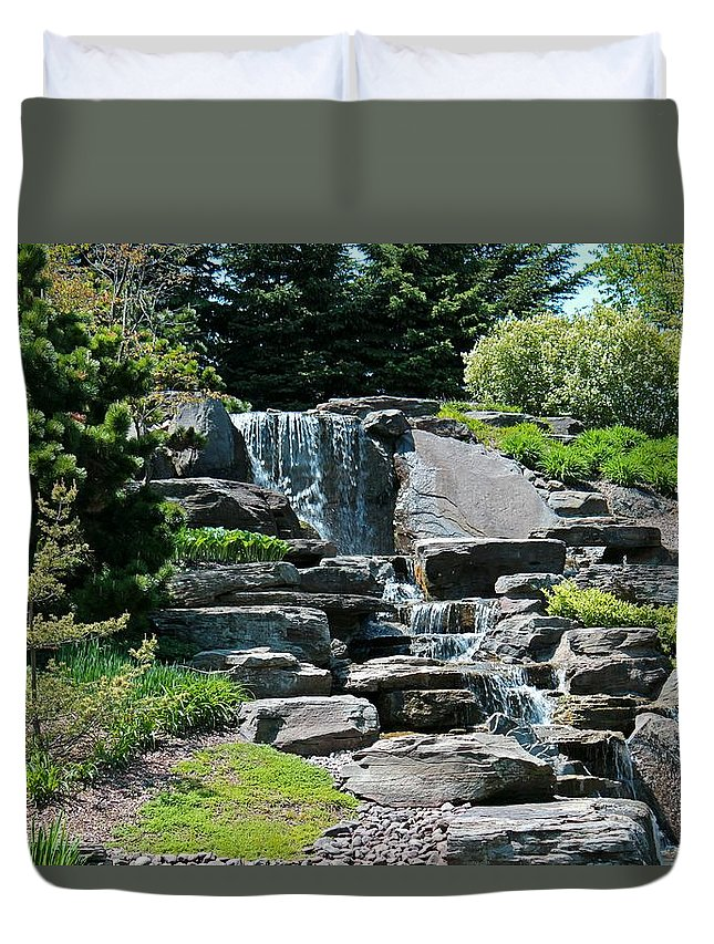 Grand Rapids Duvet Cover featuring the photograph Refuge by Michiale Schneider