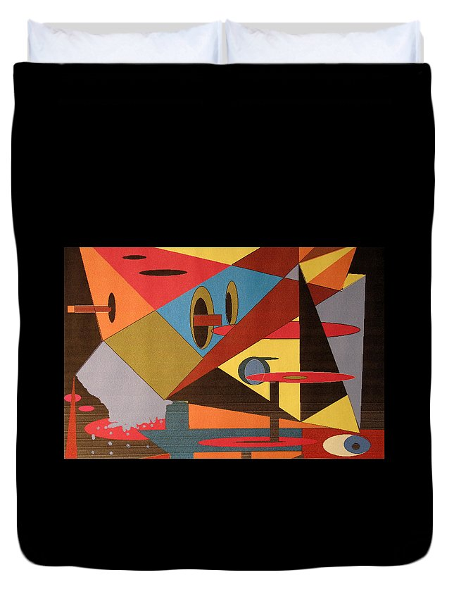Abstract Duvet Cover featuring the digital art Regret by Ian MacDonald