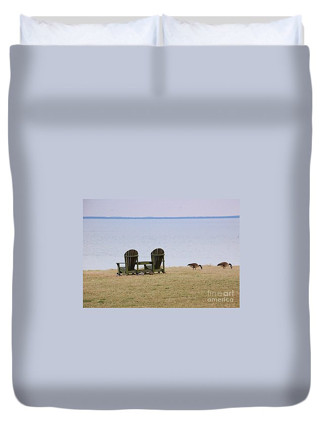 Chairs Duvet Cover featuring the photograph Relax by Debbi Granruth