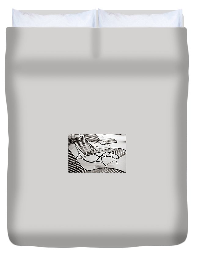 Chair Duvet Cover featuring the photograph Relaxation by Marilyn Hunt