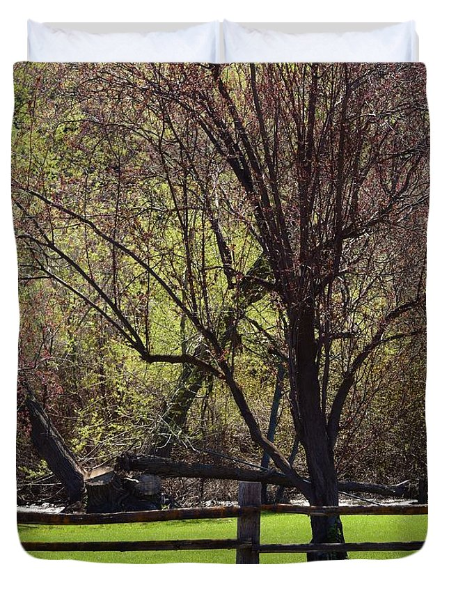 Landscape Duvet Cover featuring the photograph Relaxing Hideaway by LKB Art and Photography