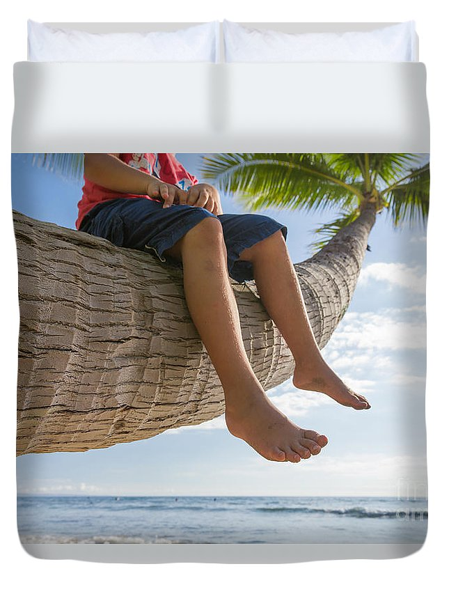Palm Tree Legs Duvet Cover featuring the photograph Relaxing by Mariusz Blach