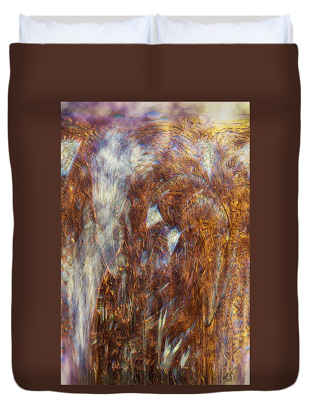 Abstract Art Duvet Cover featuring the digital art Release by Linda Sannuti