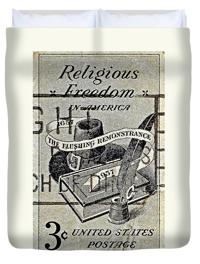 1957 Duvet Cover featuring the photograph Religious Freedom In America - Persevering by Bill Owen