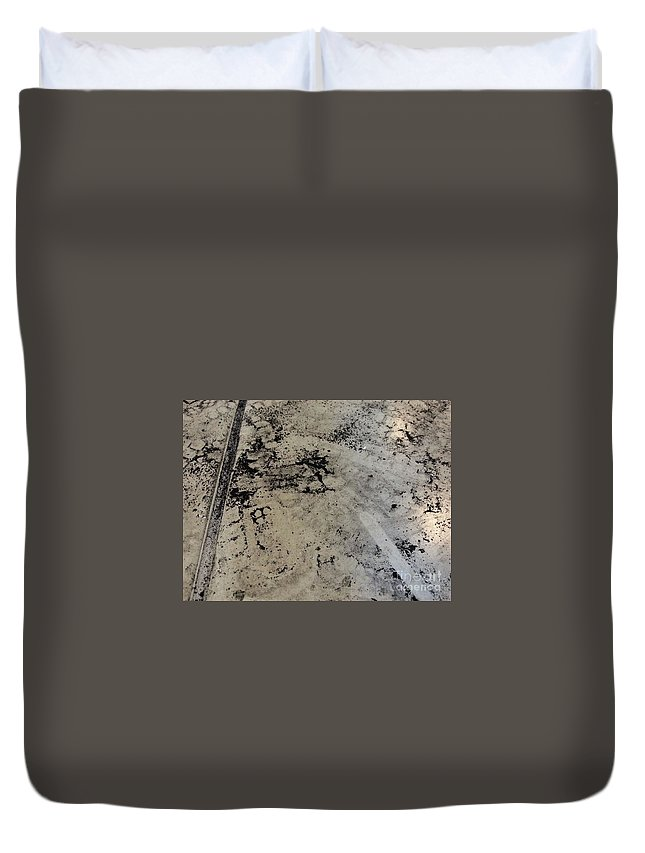 Art Duvet Cover featuring the mixed media Remains 3 by Nour Refaat