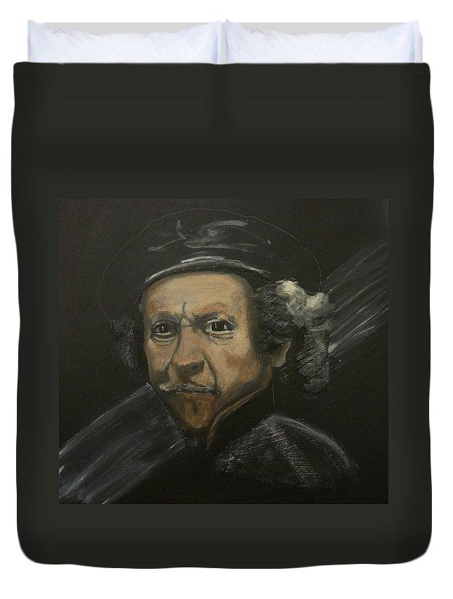 Rembrandt Duvet Cover featuring the painting Rembrandt And Colour by Richard Le Page