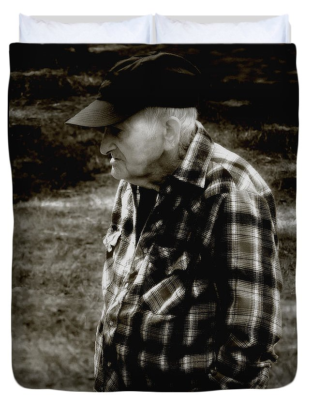 Farmer Duvet Cover featuring the photograph Remembering Hard Times by RC DeWinter