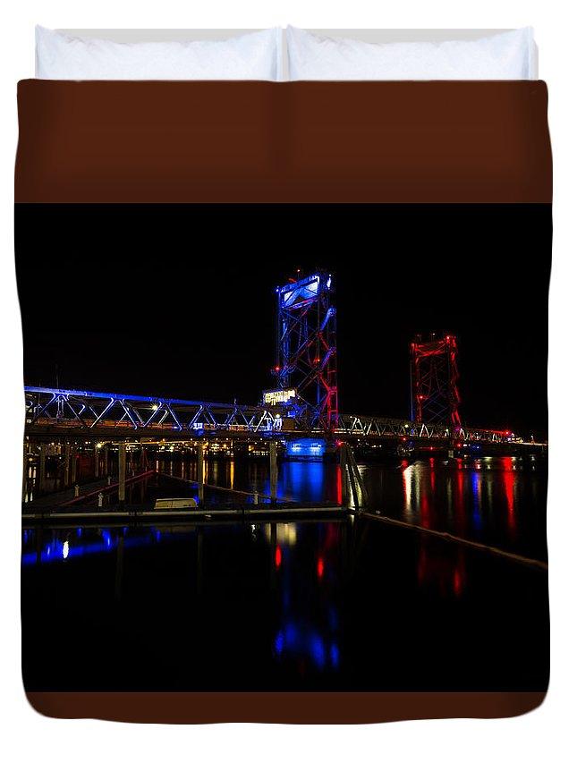 Portsmouth Duvet Cover featuring the photograph Remembering Paris 2015 by Scott Patterson