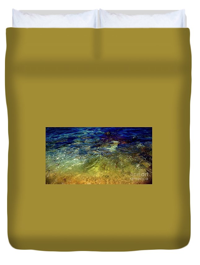 Abstract Painting Prints Duvet Cover featuring the digital art Remembering Vincent by Delona Seserman