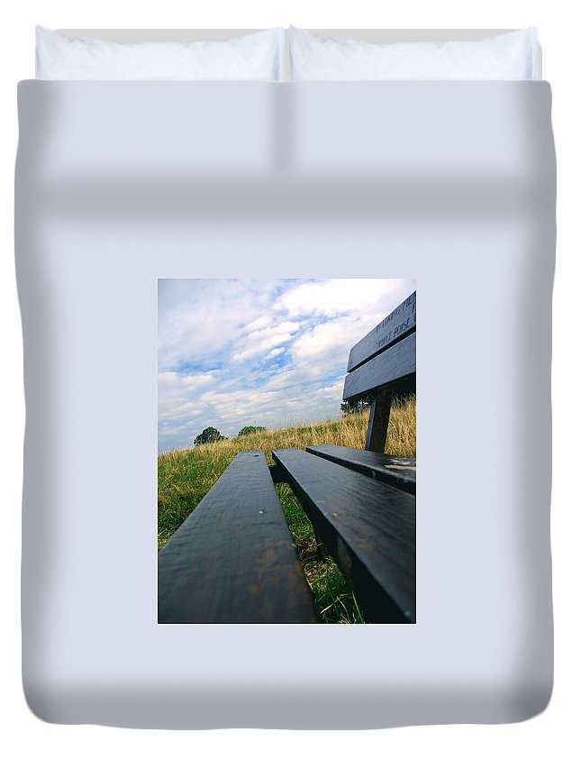 Sympathy Duvet Cover featuring the photograph Remembrance by Heather Lennox