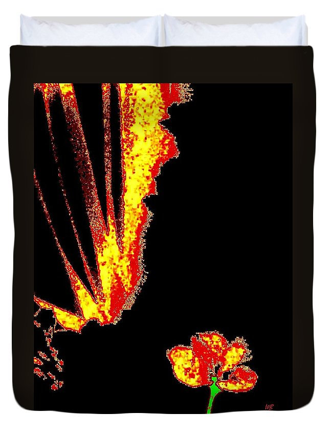 Abstract Duvet Cover featuring the digital art Reminiscence by Will Borden