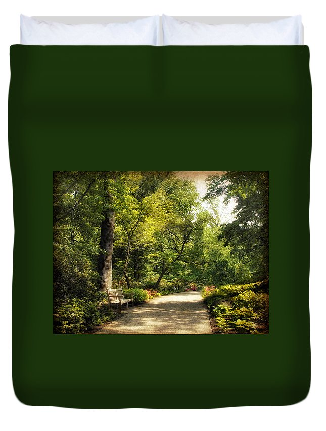 Nature Duvet Cover featuring the photograph Repose by Jessica Jenney