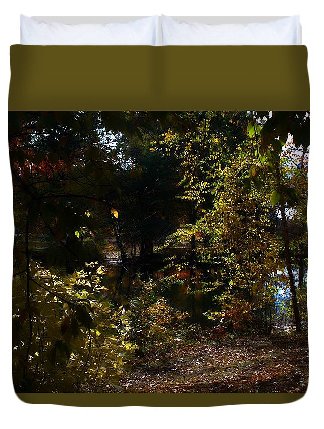 Fall Duvet Cover featuring the photograph Respite by Thomas Mack