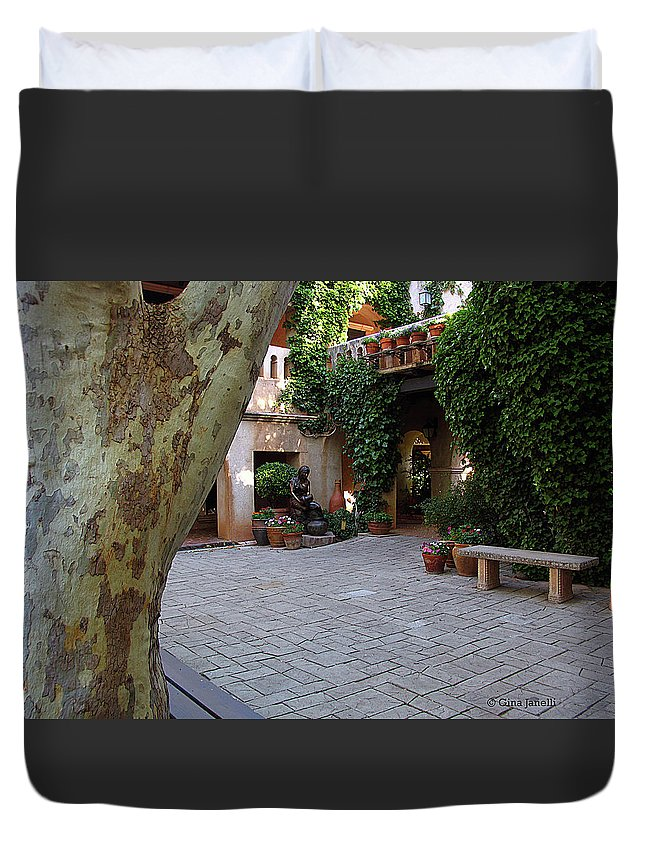 Sedona Duvet Cover featuring the photograph Restful Morning by Gina Janelli