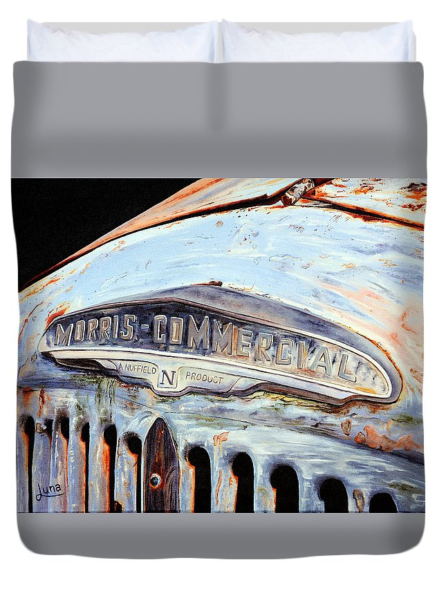 Truck Duvet Cover featuring the painting Retired by Luna Vermeulen