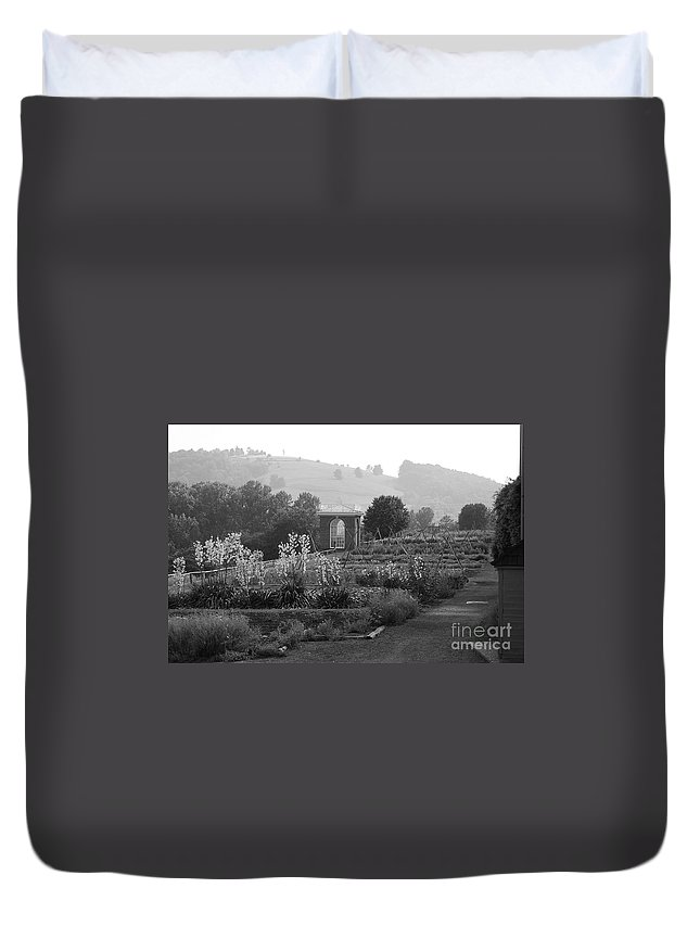 Black And White Duvet Cover featuring the photograph Retreat by Eric Liller