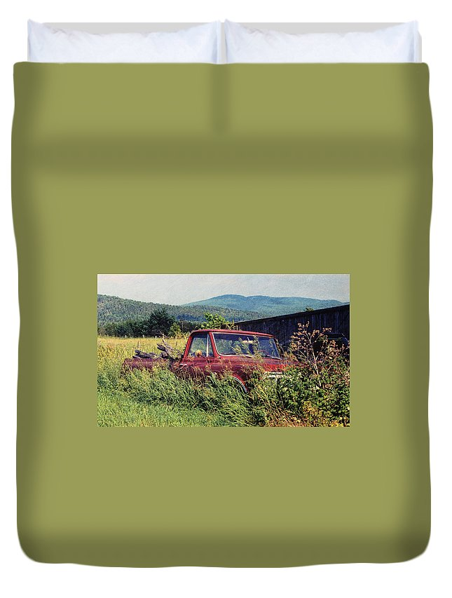 Ford Duvet Cover featuring the photograph Retro Ford by JAMART Photography