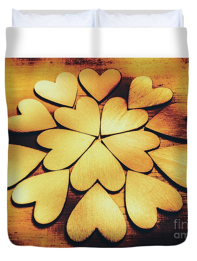 Love Duvet Cover featuring the photograph Retro Heart Connection by Jorgo Photography - Wall Art Gallery