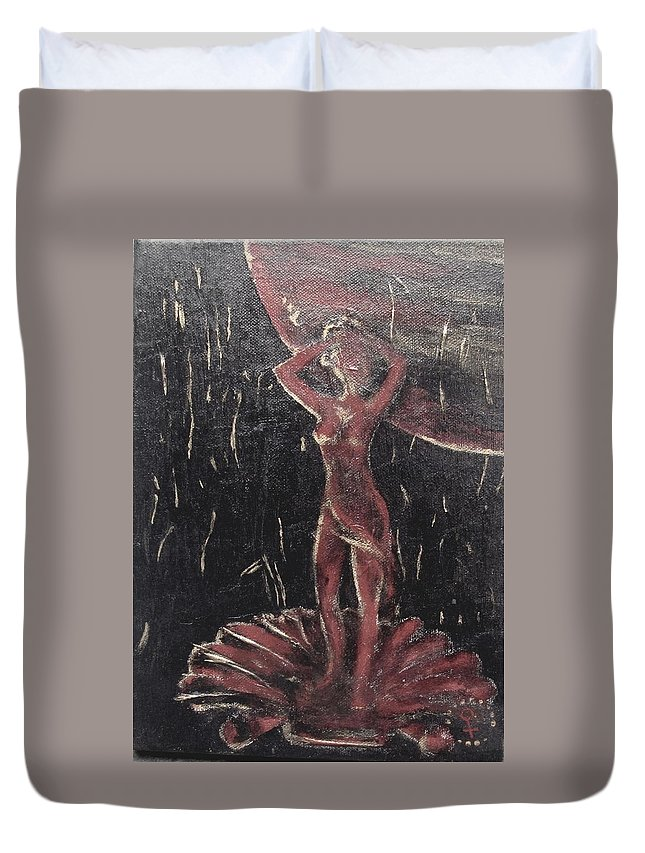 Renaissance Duvet Cover featuring the painting Return Of The Gods. Birth Of Venus by Vi Sarancha