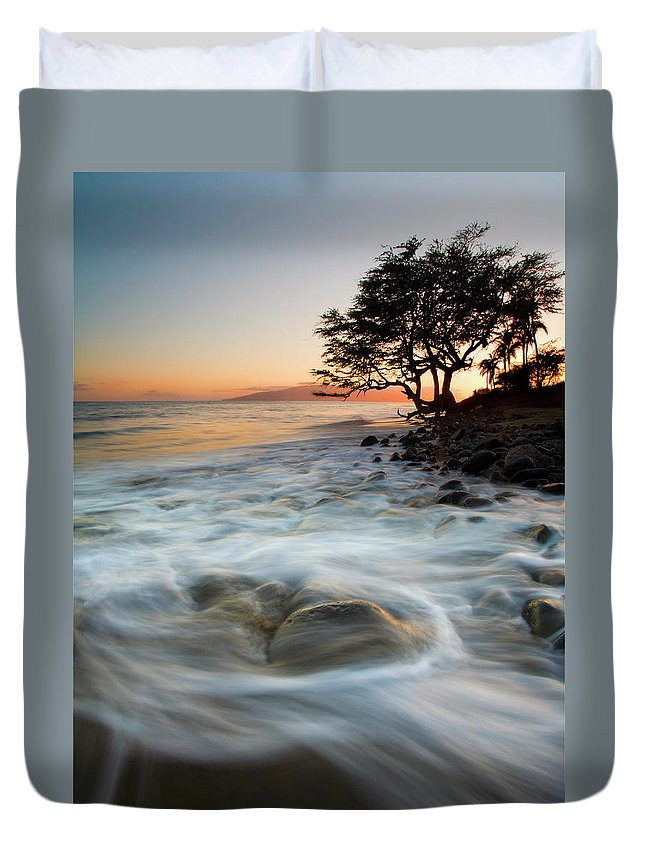 Tree Duvet Cover featuring the photograph Return To The Sea by Mike Dawson