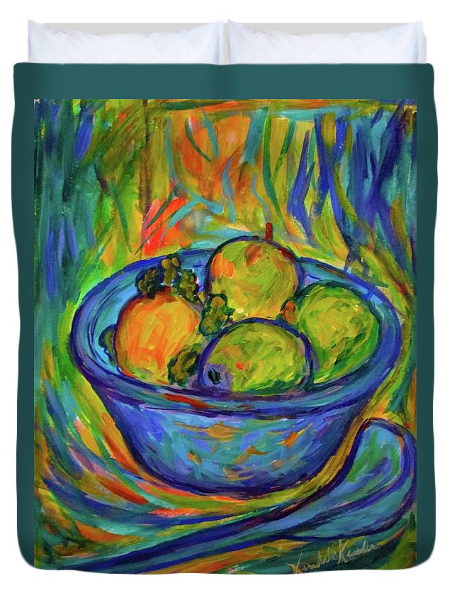 Bowl Paintings Duvet Cover featuring the painting Returning The Bowl by Kendall Kessler