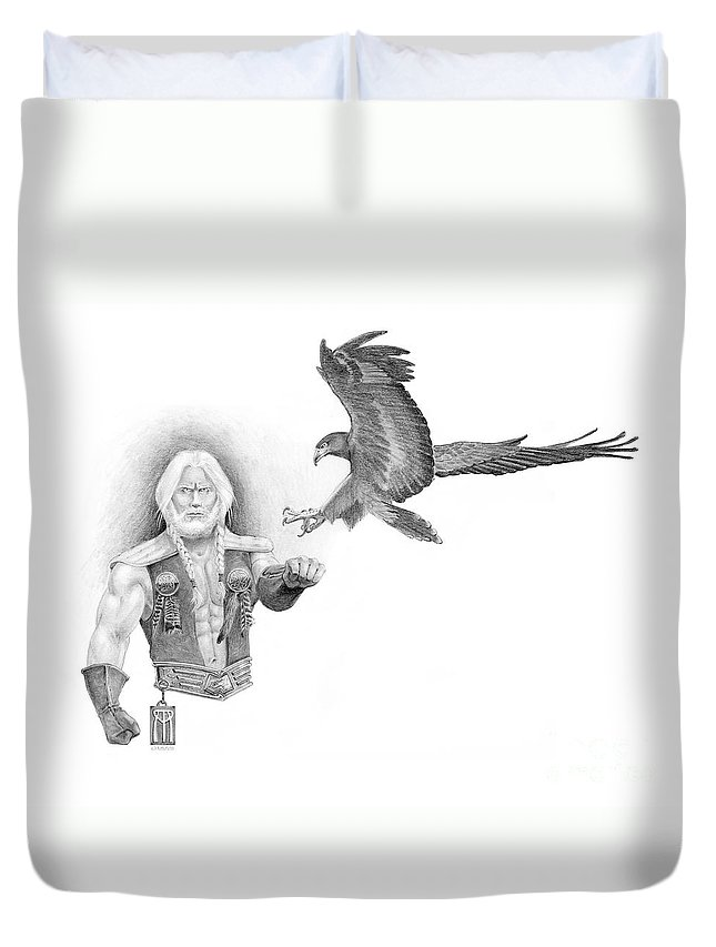 Barbarian Duvet Cover featuring the painting Revan Ramstedder by Melissa A Benson