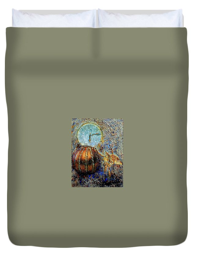 Christian Duvet Cover featuring the mixed media Revelation by Gail Kirtz