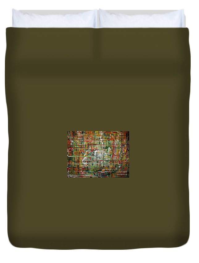 Freedom Duvet Cover featuring the painting Revelation by Jacqueline Athmann