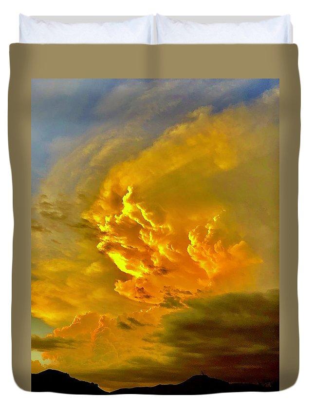 Duvet Cover featuring the photograph Revelation by Joy Elizabeth