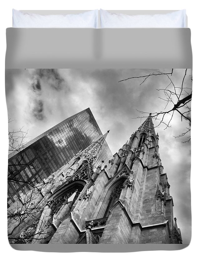 St. Patrick's Cathedral Duvet Cover featuring the photograph Reverence by Jessica Jenney