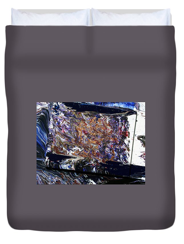Fusionart Duvet Cover featuring the painting Revolution by Ralph White