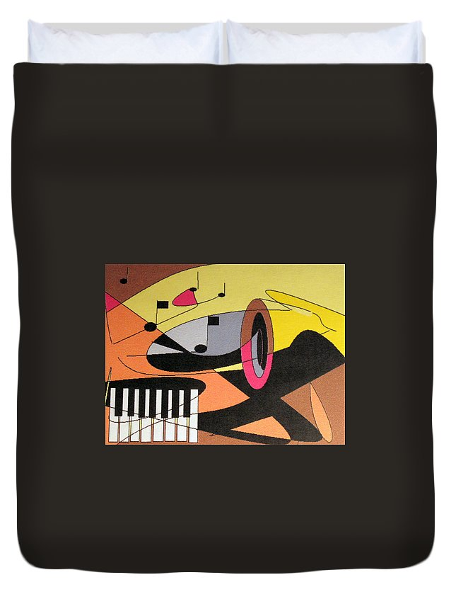 Music Duvet Cover featuring the digital art Rhapsody by Ian MacDonald