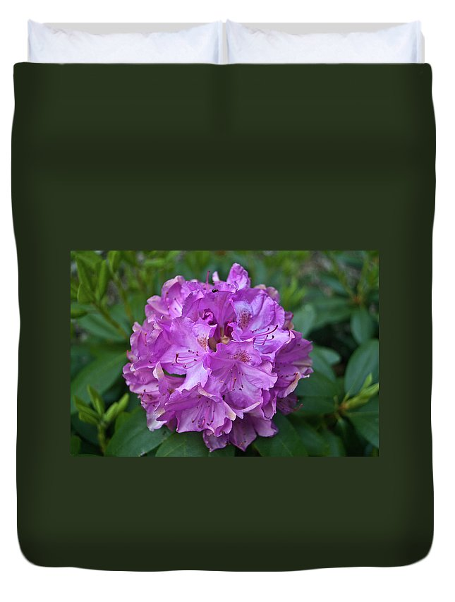 Rhododendron Duvet Cover featuring the photograph Rhododendron Elegance by Douglas Barnett